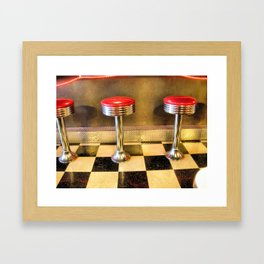 olde time stools Framed Art Print
