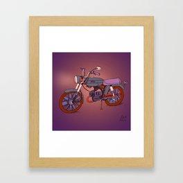 Vintage Motorcycle Gems Framed Art Print