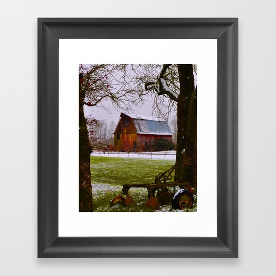 Remnants of a Simpler Time - The Barn Framed Art Print