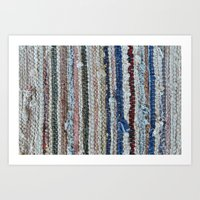 rustic rug texture Art Print