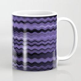 Purple Waves Abstract Coffee Mug