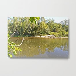 Enjoy the tranquil river Metal Print