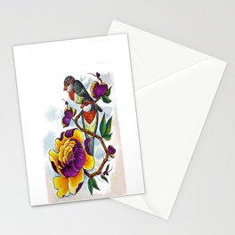 Peony Birds Stationery Cards