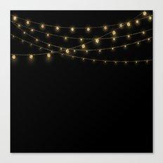 Gold rich Glitter Chain- Treasure Sparkle Canvas Print