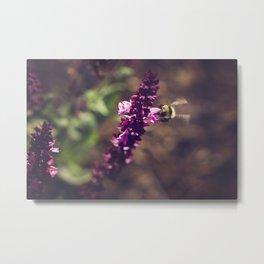 Bee in Flight Metal Print