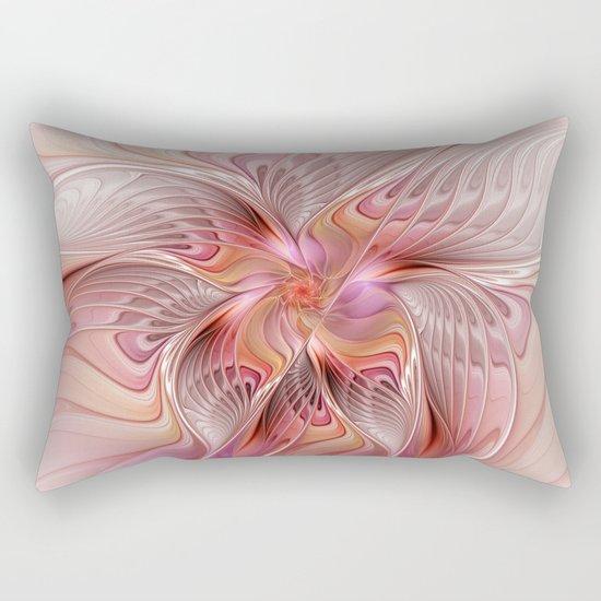 Abstract Butterfly, Fantasy Fractal Rectangular Pillow