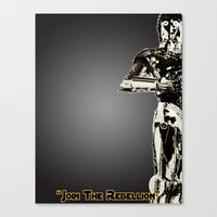 c3po Canvas Prints featuring C3PO by KL Design Solutions