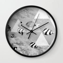 Underwater geometry Wall Clock