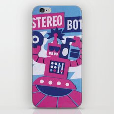 Stereo Bot iPhone & iPod Skin