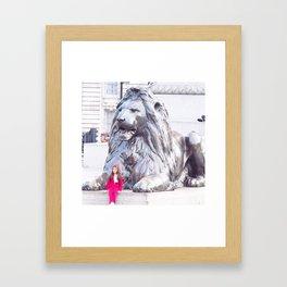 London Lion Framed Art Print