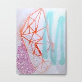 Crystal Sketch Metal Print
