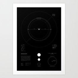 Exoplanet Keplar-442b - Black Art Print