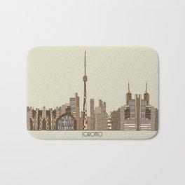 Toronto city vintage  Bath Mat