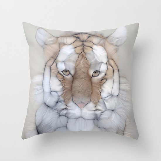 tiger wild Throw Pillow