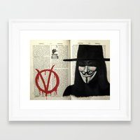 vendetta Framed Art Prints featuring Vendetta by Coreypopp