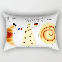 eat and travel Rectangular Pillow