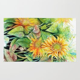 Colorful Sunflowers Rug