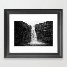 Svartifoss Waterfall Iceland Framed Art Print