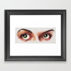 Eyes girl are looking something Framed Art Print