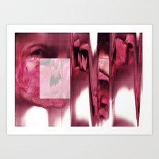 blurred blood portrait Art Print