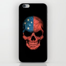 Dark Skull with Flag of Samoa iPhone Skin
