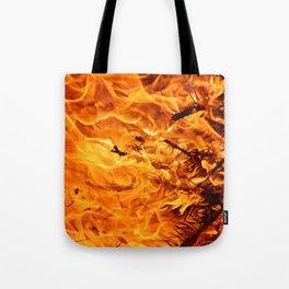Winter Flames Tote Bag