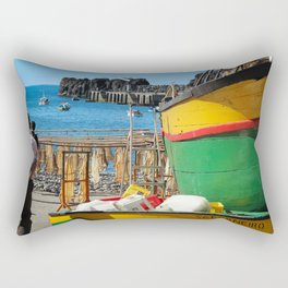 Watching the ships come in... Rectangular Pillow