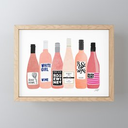 Rose Bottles Framed Mini Art Print