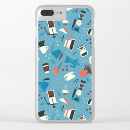 Coffee Amour Clear iPhone Case