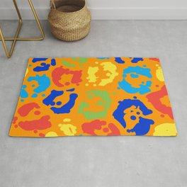 Leopard Colorful Spots Pattern Rug