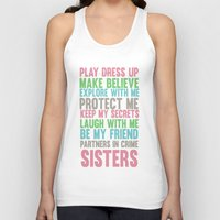 sisters Tank Tops featuring sisters by studiomarshallarts