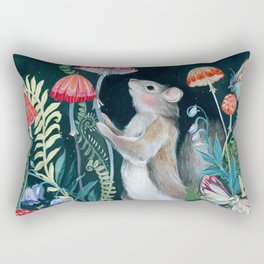 Mushroom garden Rectangular Pillow