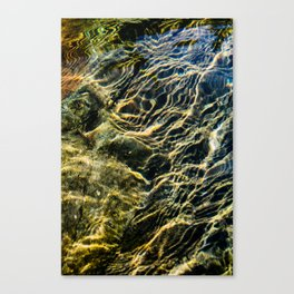 Ripples on River Rocks Canvas Print