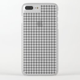Dotted Grid Clear iPhone Case