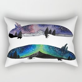 GALAXY STARRY NIGHT AXOLOTL ARTWORK Rectangular Pillow