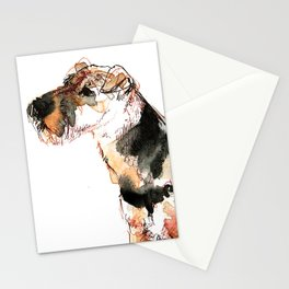 Airedale Terrier Watercolor #2 Stationery Cards