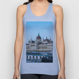 Cityscape of Budapest Unisex Tank Top