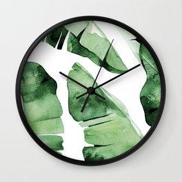 Tropical Banana Leaf Wall Clock