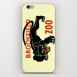 Black panther Brookfield Zoo ad iPhone Skin