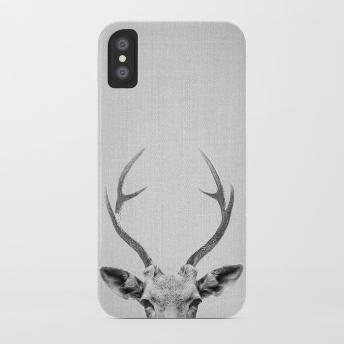 deer - black & white iphone case