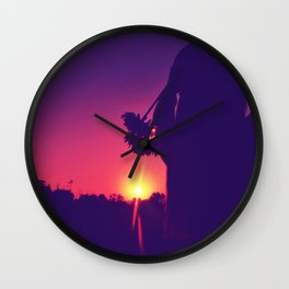 Silhouette sunset Wall Clock
