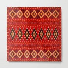 N165 - Oriental Traditional African Moroccan Style Artwork Metal Print