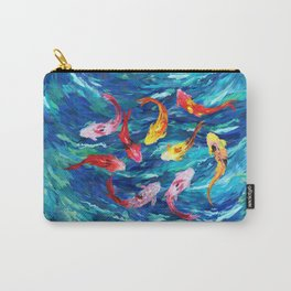 Koi fish rainbow abstract paintings Carry-All Pouch