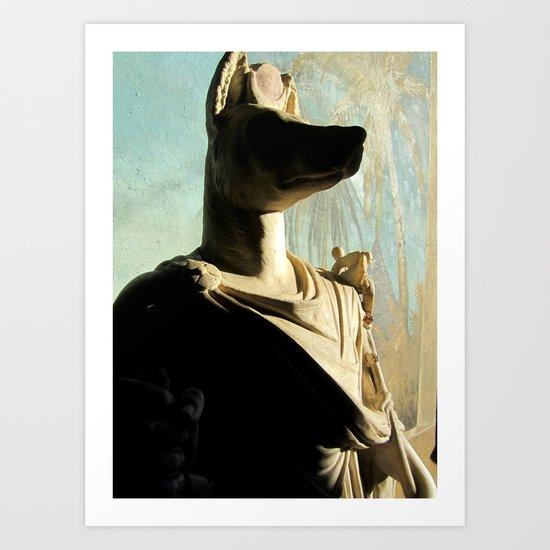 Gone to meet Anubis. Art Print