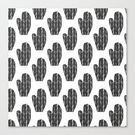 Black and White Mittens Canvas Print