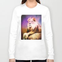 the lion king Long Sleeve T-shirts featuring King Lion by SwanniePhotoArt