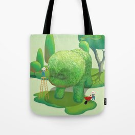 The Topiary Dog Tote Bag