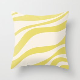 Cute Yellow Cream Zebra Stripes ! Throw Pillow