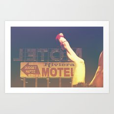 Riviera Motel on Route 66 Art Print
