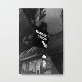 Manhattan Barber Shop Metal Print